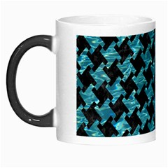 Houndstooth2 Black Marble & Blue Green Water Morph Mug by trendistuff