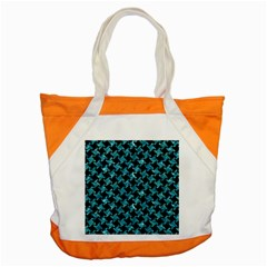 Houndstooth2 Black Marble & Blue Green Water Accent Tote Bag by trendistuff