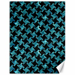Houndstooth2 Black Marble & Blue Green Water Canvas 18  X 24  by trendistuff