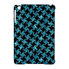 Houndstooth2 Black Marble & Blue Green Water Apple Ipad Mini Hardshell Case (compatible With Smart Cover) by trendistuff