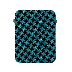 Houndstooth2 Black Marble & Blue Green Water Apple Ipad 2/3/4 Protective Soft Case by trendistuff
