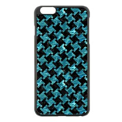Houndstooth2 Black Marble & Blue Green Water Apple Iphone 6 Plus/6s Plus Black Enamel Case by trendistuff