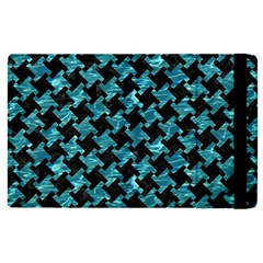 Houndstooth2 Black Marble & Blue Green Water Apple Ipad Pro 9 7   Flip Case by trendistuff