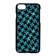 Houndstooth2 Black Marble & Blue Green Water Apple Iphone 7 Seamless Case (black) by trendistuff