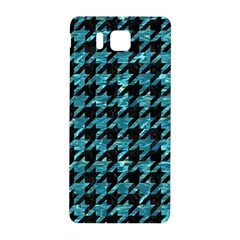 Houndstooth1 Black Marble & Blue Green Water Samsung Galaxy Alpha Hardshell Back Case by trendistuff