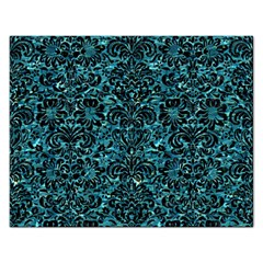 Damask2 Black Marble & Blue Green Water (r) Jigsaw Puzzle (rectangular) by trendistuff