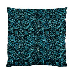 Damask2 Black Marble & Blue Green Water (r) Standard Cushion Case (one Side) by trendistuff
