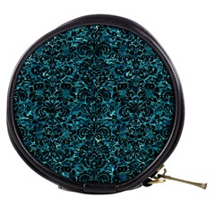 Damask2 Black Marble & Blue Green Water (r) Mini Makeup Bag by trendistuff