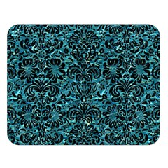 Damask2 Black Marble & Blue Green Water (r) Double Sided Flano Blanket (large) by trendistuff