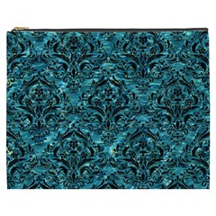 Damask1 Black Marble & Blue Green Water (r) Cosmetic Bag (xxxl) by trendistuff