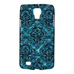 Damask1 Black Marble & Blue Green Water (r) Samsung Galaxy S4 Active (i9295) Hardshell Case by trendistuff