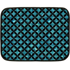 Circles3 Black Marble & Blue Green Water (r) Fleece Blanket (mini) by trendistuff