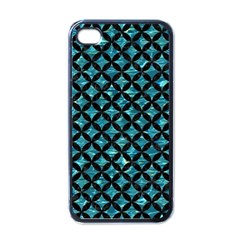 Circles3 Black Marble & Blue Green Water (r) Apple Iphone 4 Case (black) by trendistuff
