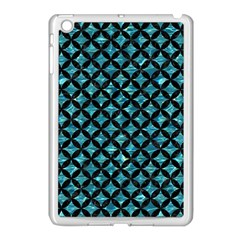Circles3 Black Marble & Blue Green Water (r) Apple Ipad Mini Case (white) by trendistuff