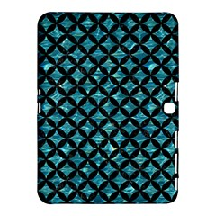 Circles3 Black Marble & Blue Green Water (r) Samsung Galaxy Tab 4 (10 1 ) Hardshell Case  by trendistuff