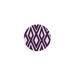 Diamond Key Stripe Purple Chevron 1  Mini Buttons by Mariart