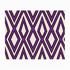 Diamond Key Stripe Purple Chevron Small Glasses Cloth (2-side) by Mariart