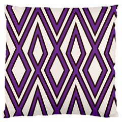 Diamond Key Stripe Purple Chevron Large Cushion Case (one Side) by Mariart
