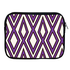 Diamond Key Stripe Purple Chevron Apple Ipad 2/3/4 Zipper Cases by Mariart