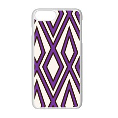 Diamond Key Stripe Purple Chevron Apple Iphone 7 Plus White Seamless Case by Mariart