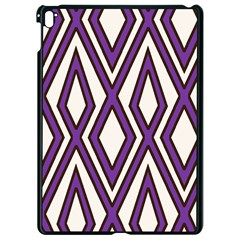 Diamond Key Stripe Purple Chevron Apple Ipad Pro 9 7   Black Seamless Case by Mariart