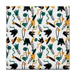 Flowers Duck Legs Line Tile Coasters by Mariart