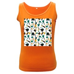 Flowers Duck Legs Line Women s Dark Tank Top