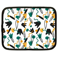 Flowers Duck Legs Line Netbook Case (large) by Mariart