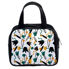 Flowers Duck Legs Line Classic Handbags (2 Sides) by Mariart