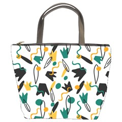 Flowers Duck Legs Line Bucket Bags by Mariart