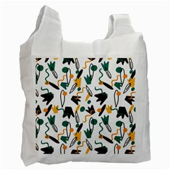 Flowers Duck Legs Line Recycle Bag (one Side) by Mariart
