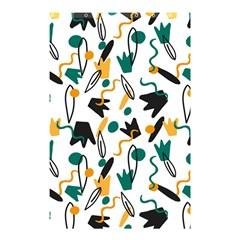 Flowers Duck Legs Line Shower Curtain 48  X 72  (small)