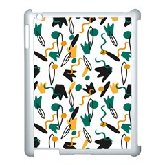 Flowers Duck Legs Line Apple Ipad 3/4 Case (white) by Mariart