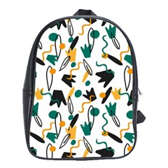 Flowers Duck Legs Line School Bags (xl)  by Mariart