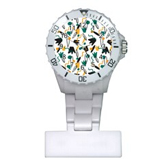 Flowers Duck Legs Line Plastic Nurses Watch by Mariart