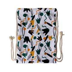 Flowers Duck Legs Line Drawstring Bag (small) by Mariart