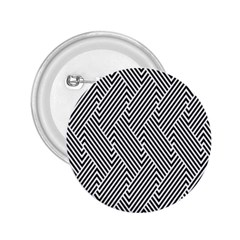 Escher Striped Black And White Plain Vinyl 2 25  Buttons