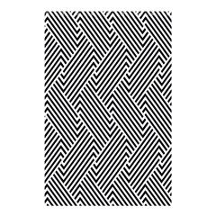 Escher Striped Black And White Plain Vinyl Shower Curtain 48  X 72  (small)  by Mariart