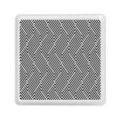 Escher Striped Black And White Plain Vinyl Memory Card Reader (square)  by Mariart