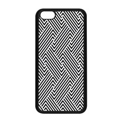 Escher Striped Black And White Plain Vinyl Apple Iphone 5c Seamless Case (black) by Mariart