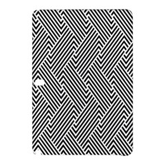 Escher Striped Black And White Plain Vinyl Samsung Galaxy Tab Pro 12 2 Hardshell Case by Mariart