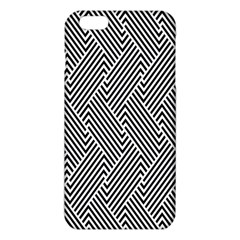 Escher Striped Black And White Plain Vinyl Iphone 6 Plus/6s Plus Tpu Case by Mariart
