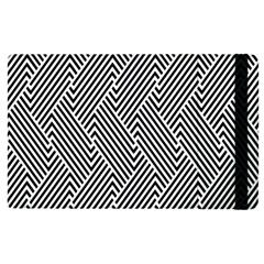 Escher Striped Black And White Plain Vinyl Apple Ipad Pro 9 7   Flip Case by Mariart