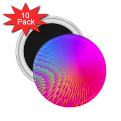 Light Aurora Pink Purple Gold 2 25  Magnets (10 Pack)  by Mariart