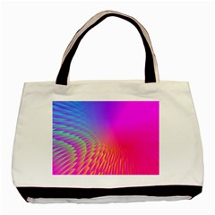 Light Aurora Pink Purple Gold Basic Tote Bag (two Sides) by Mariart