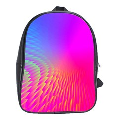 Light Aurora Pink Purple Gold School Bags (xl)  by Mariart