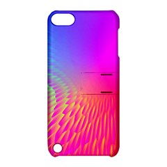 Light Aurora Pink Purple Gold Apple Ipod Touch 5 Hardshell Case With Stand by Mariart