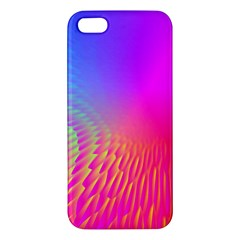 Light Aurora Pink Purple Gold Apple Iphone 5 Premium Hardshell Case by Mariart