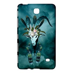 The Billy Goat  Skull With Feathers And Flowers Samsung Galaxy Tab 4 (7 ) Hardshell Case  by FantasyWorld7