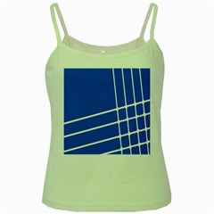 Line Stripes Blue Green Spaghetti Tank